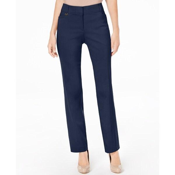 97fd688214 JM Collection Blue Women's Size 6X28 Curvy-Fit Slim-Leg Pants
