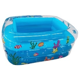 Inflatable Swimming Pool Square Transparent Children