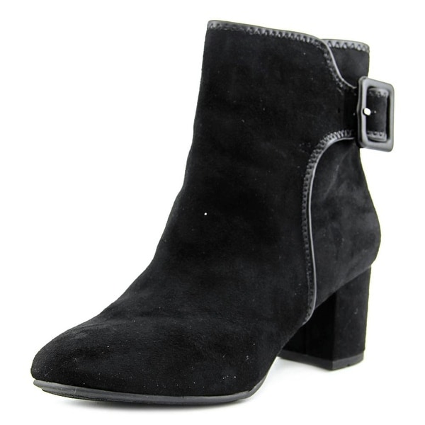 White Mountain Callaway Women Round Toe Synthetic Black Ankle Boot