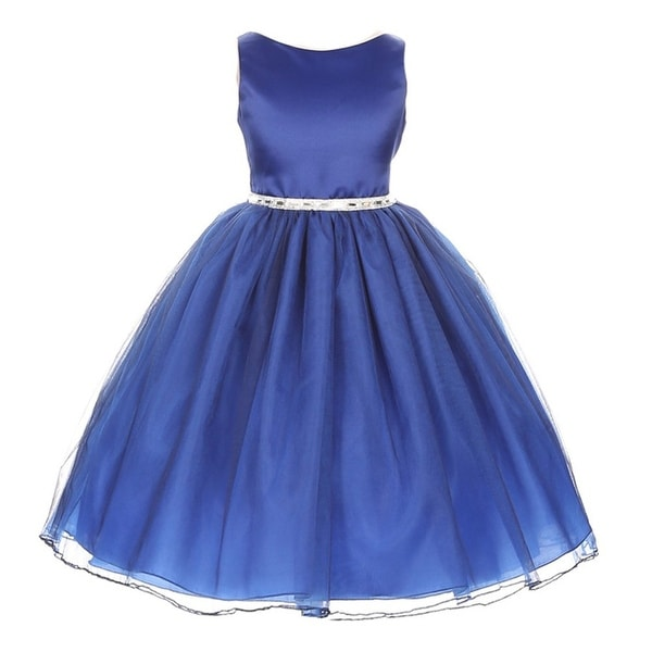 Shop Chic Baby Girls Royal Blue Degrade Overlay Special Occasion