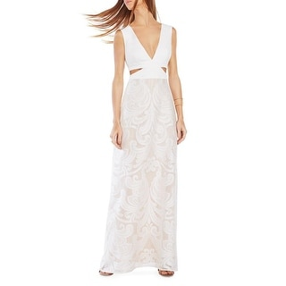 BCBG Max Azria Womens Marilyne Party Dress Lace Cut-Out