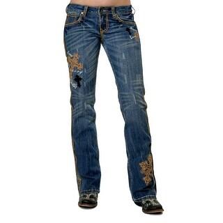 Cowgirl Tuff Western Denim Jeans Women UnBELIEVable Medium Wash