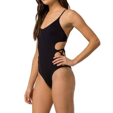 Billabong Black Womens Size Medium M Sol Searcher One-Piece Swimsuit
