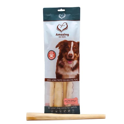 Amazing Dog Treats Bull Tails Thick 12 inch 4 Pack