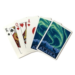 Denali National Park, Alaska - Northern Lights - Lantern Press Artwork (Poker Playing Cards Deck)