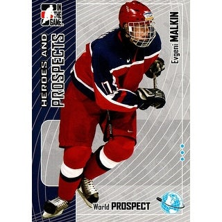 Signed Malkin Evgeni Evgeni Malkin 200506 In The Game Heroes and Prospects Rookie Unsigned Hockey