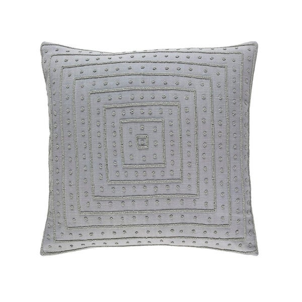 "18"" Taupe Gray Woven Decorative Throw Pillow"