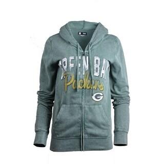 New Era Green Bay Packers Faded Green Women's Hoodie