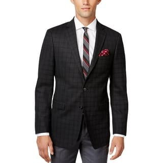 Calvin Klein Mens Suit Jacket Wool Plaid - 42|https://ak1.ostkcdn.com/images/products/is/images/direct/8c2337f510bff725d1348c242ccec63e4007cdc9/Calvin-Klein-Mens-Suit-Jacket-Wool-Plaid.jpg?impolicy=medium
