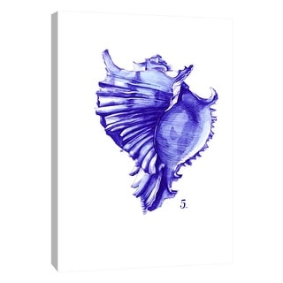 "PTM Images 9-105249  PTM Canvas Collection 10"" x 8"" - ""Sea Life in Pen 5"" Giclee Shells Art Print on Canvas"