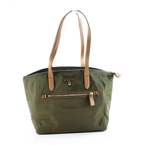 Michael Kors New Kelsey Olive Green Medium Top Zip Tote Handbag Purse