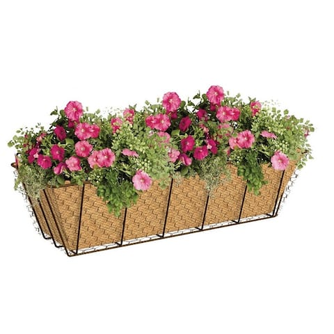 Panacea 84274 Windowbox Rustic With Burlap Liner, 24""