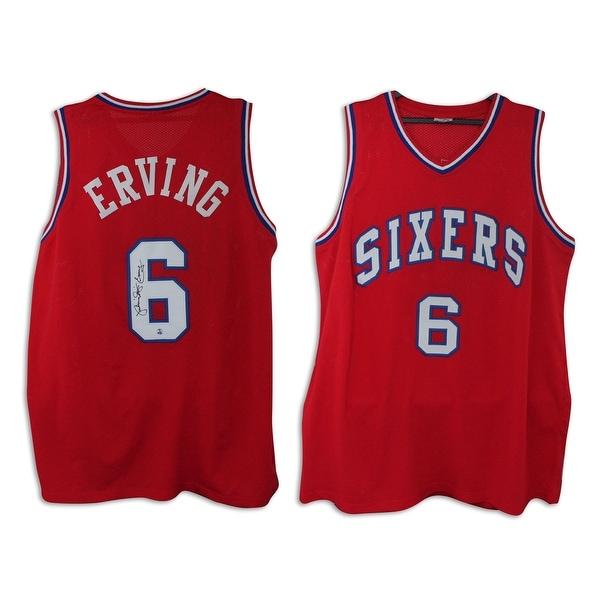 1e1047f8 Shop Julius Erving Philadelphia 76ers Autographed Red Throwback Jersey  Inscribed