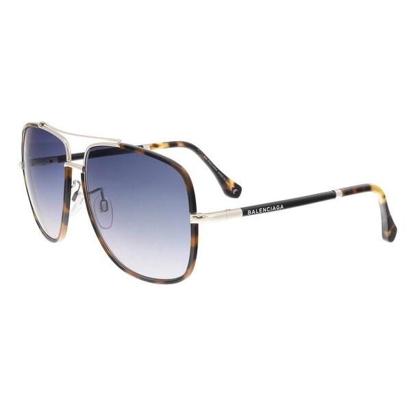 a1b21253a6ea Shop Balenciaga BA0061 56B Tortoise Aviator Sunglasses - 60-14-130 ...