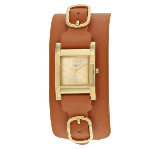 Guess Women's Classic W1137L2 Gold Dial watch
