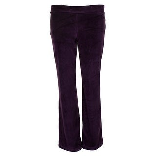 Charter Club Petite Purple Plum Pull-On Velour Pants PP