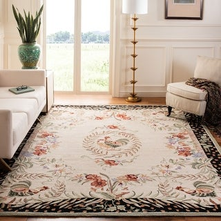 Link to Safavieh Hand-hooked Chelsea Jasmyne Country Oriental Wool Rug Similar Items in Rugs