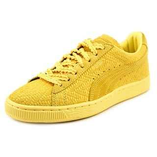 Puma Suede Classic Woven Wn's Women Round Toe Synthetic Yellow Sneakers