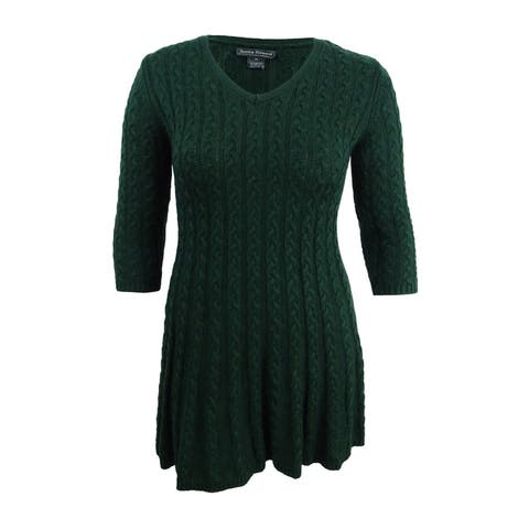 Jessica Howard Women's Petite Cable-Knit Sweater Dress