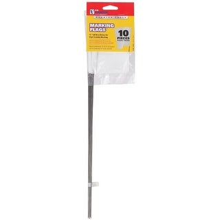 "C.H. Hanson 15180 Marking Flags, 15"", White, 10/Pack"