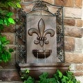 Sunnydaze French Lily Solar Outdoor Wall Fountain, Multiple Colors - Thumbnail 3