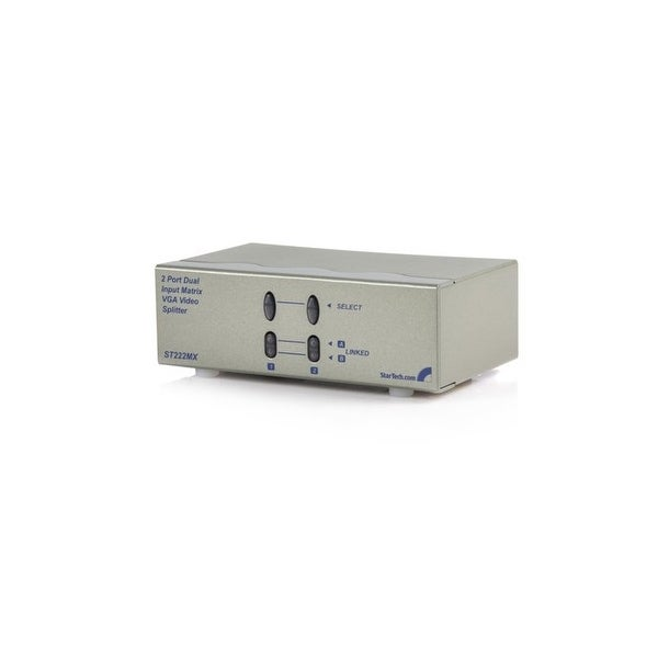 Startech - Share Two Distinct Vga Input Source Signals Between Two Displays Or Projectors -