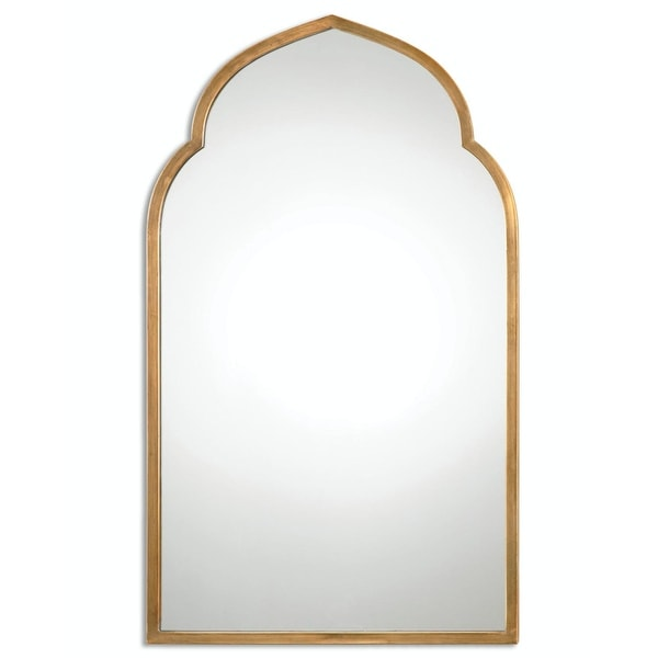 Shop 40 Quot Moroccan Ines Hand Forged Arch Wall Mirror With