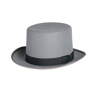 Classic Top Hat in Grey with Black Band