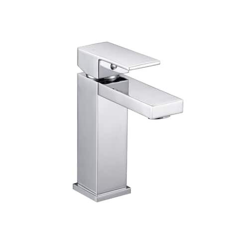 "SAFAVIEH Solea Strick & Bolton Findlay Single Handle Chrome-finished Bathroom Vessel Faucet - 4.3"" x 1.3"" x 5.9"""