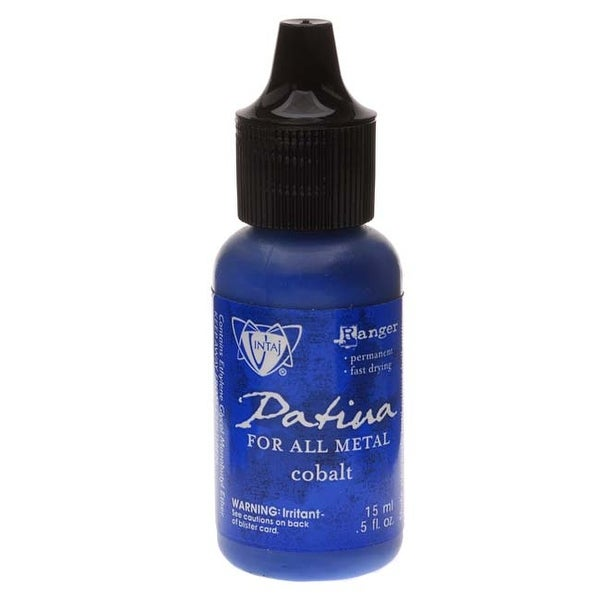 Vintaj Patina Opaque Permanent Ink - Cobalt Blue - 0.5 Ounce Bottle
