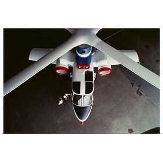 """""""High angle view of a helicopter"""" Poster Print"""