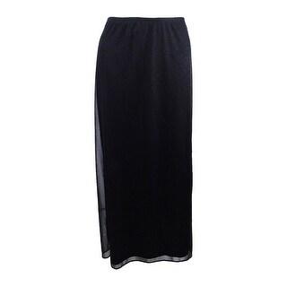 MSK Women's Sparkle A-Line Skirt - Black