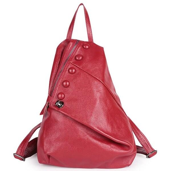 1fe7496762c4 ... Shoulder Bags. QZUnique Women  x27 s Cowhide Genuine Leather Fashion  Outer Zipper Casual Backpack
