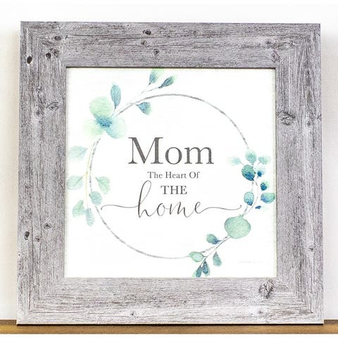 Mom The Heart Of The Home Framed Art Decor Picture