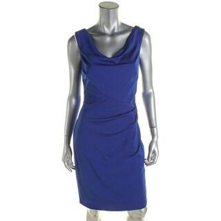 Lauren Ralph Lauren Womens Lorenza-Chateau Cocktail Dress Matte Jersey Ruched