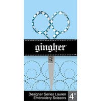 "Gingher Lauren Embroidery Scissors 4""-"