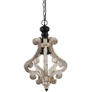 A&B Home Perth Wooden Chandelier, 12.6 X 20.9-Inch
