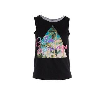 2kuhl Womens Juniors Palm Springs Slogan T-Shirt Sleeveless Tank