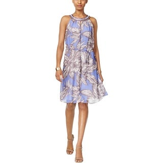 Nine West Womens Casual Dress Chiffon Embellished