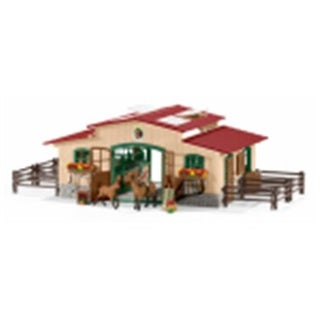 Schleich North America 221463 Stable with Horses & Accessories Toy