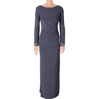 Alex Evenings Womens Evening Dress Beaded Cuff Long Sleeves (2 options available)