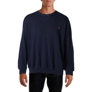Polo Ralph Lauren Mens Big & Tall Cotton Long Sleeves Crewneck Sweater - 3xb