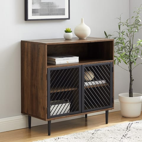 Carson Carrington Modern Metal Door Accent Cabinet