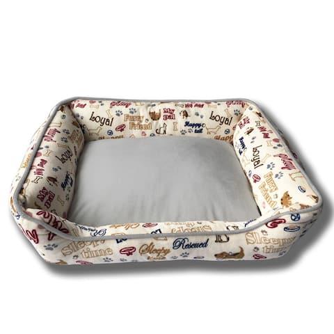 Loyal 22x18 Pet Bed-cream-S - Small