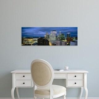 Easy Art Prints Panoramic Images's 'Buildings Lit Up At Dusk, Minneapolis, Minnesota, USA' Premium Canvas Art