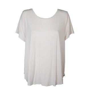 Alfani Plus Size Pink Short-Sleeve High-Low Tee 2X