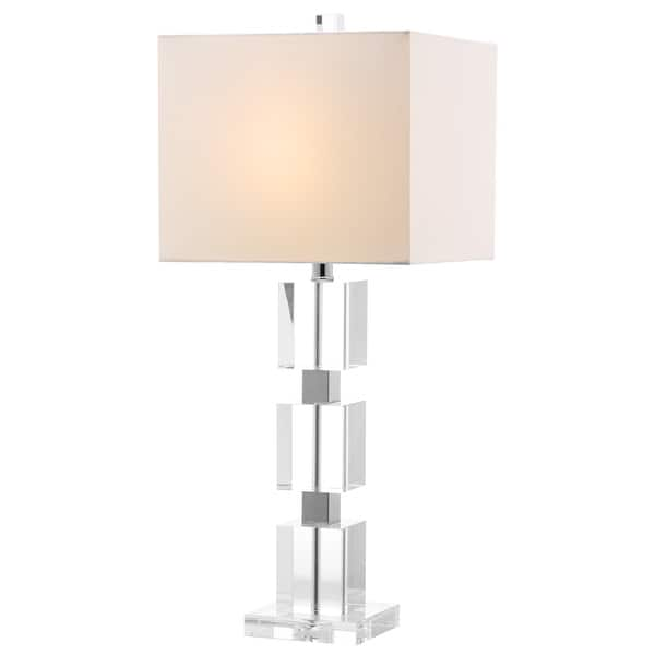 Safavieh Lighting 28 Inch Palace Crystal Stacked Cube Table Lamp 13 X13 X28 On Sale Overstock 8353209
