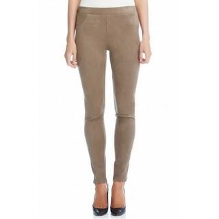 Karen Kane NEW Beige Faux-Suede Womens XL Leggings Pull-On Skinny Pants