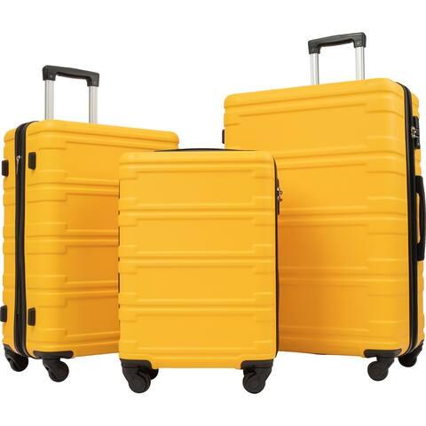 Merax 3-Piece Spinner Suitcase Lightweight Luggage Set, 20 24 28 inch