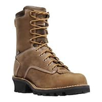 """Danner Men's Danner Logger 8"""" NMT Insulated Boot Brown Oiled Nubuck Leather"""
